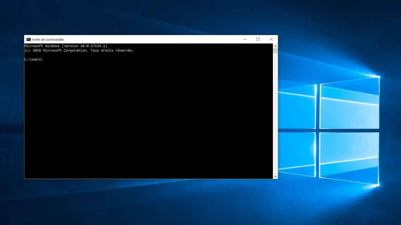 invite de commande cmd windows ms-dos