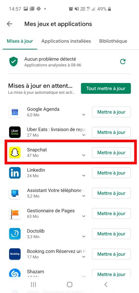 supprimer un application android : étape 3