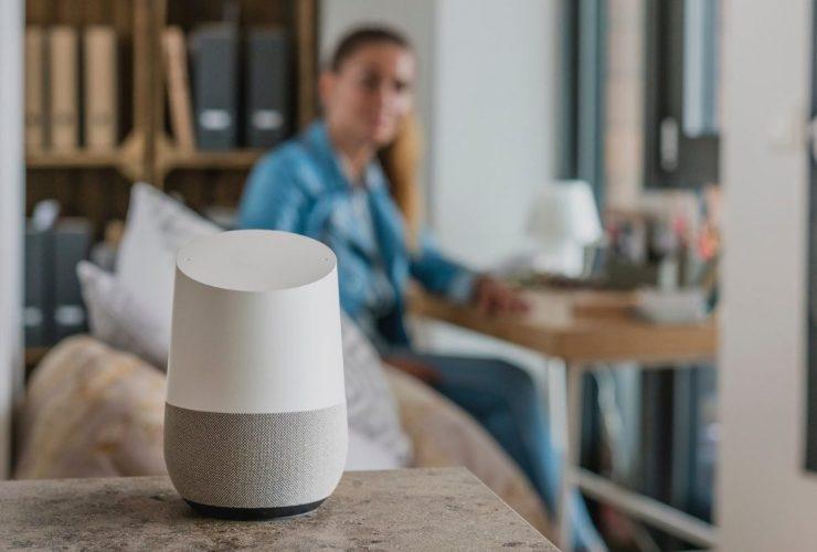 achat commande vocale google home