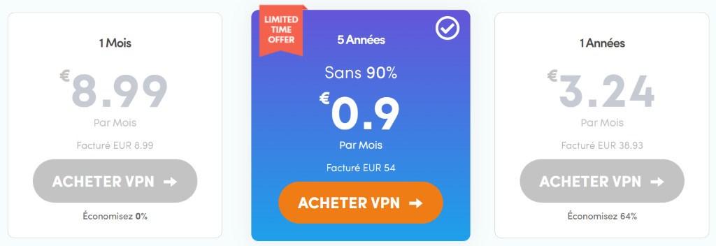 prix offre vpn ivacy