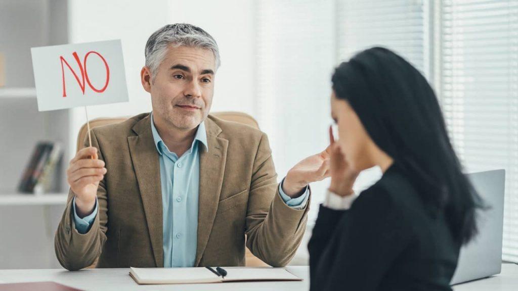 mauvais entretien d'embauche recalé
