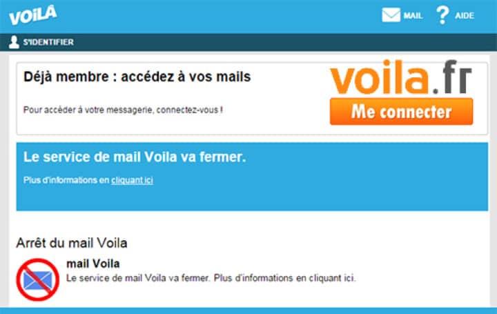 voila mail : se connecter