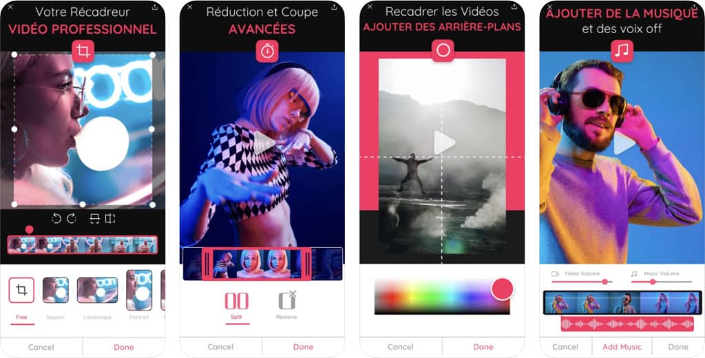 "application iPhone ""Rogner Video: Couper une Vidé‪o‬"""