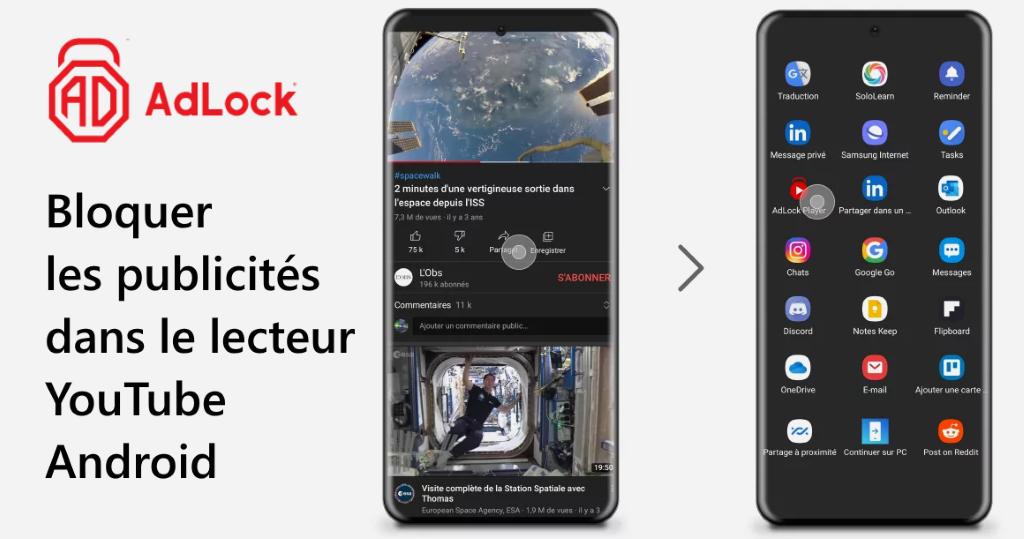 Bloquer les publicités dans le lecteur YouTube Android avec AdLock