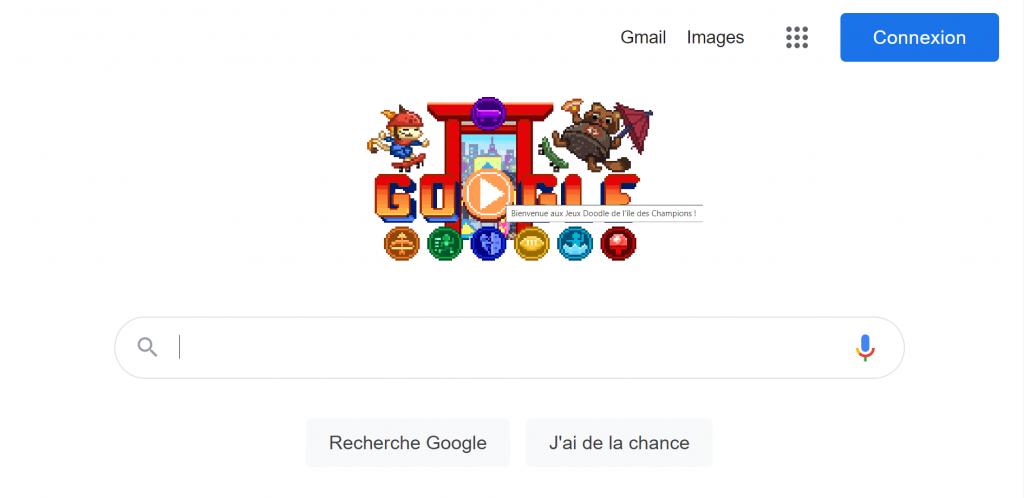 Google Doodle : jeux olympiques Tokyo