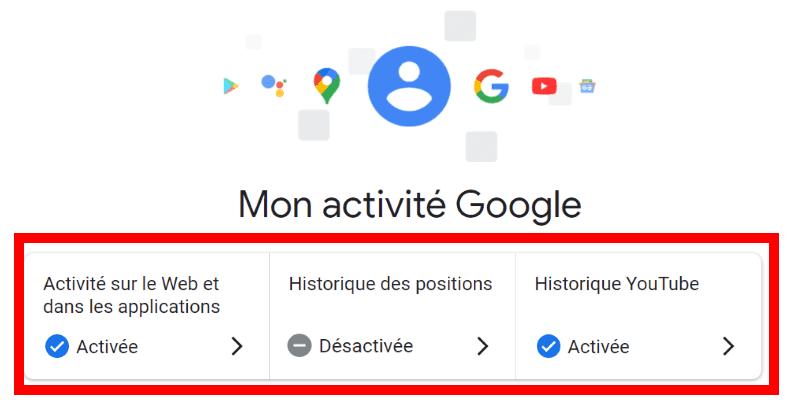 désactiver la collecte de données google