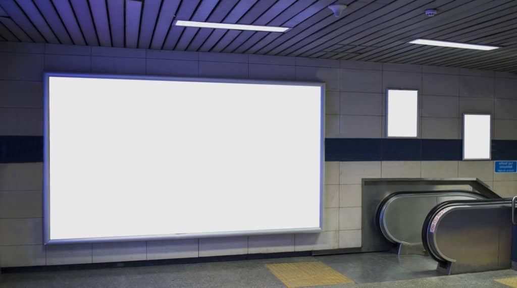 panneau publicitaire affichage intérieur