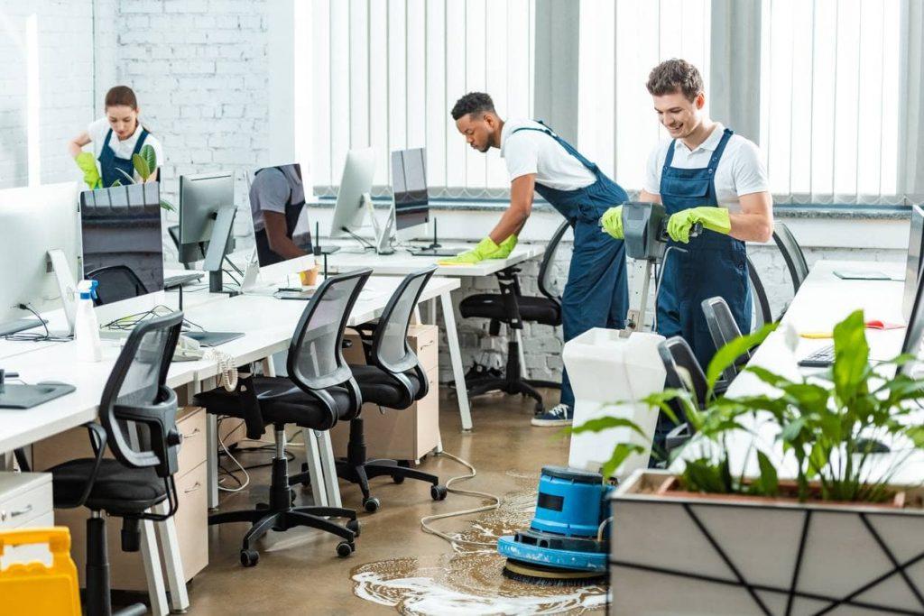 Nettoyage de bureaux locaux professionnels