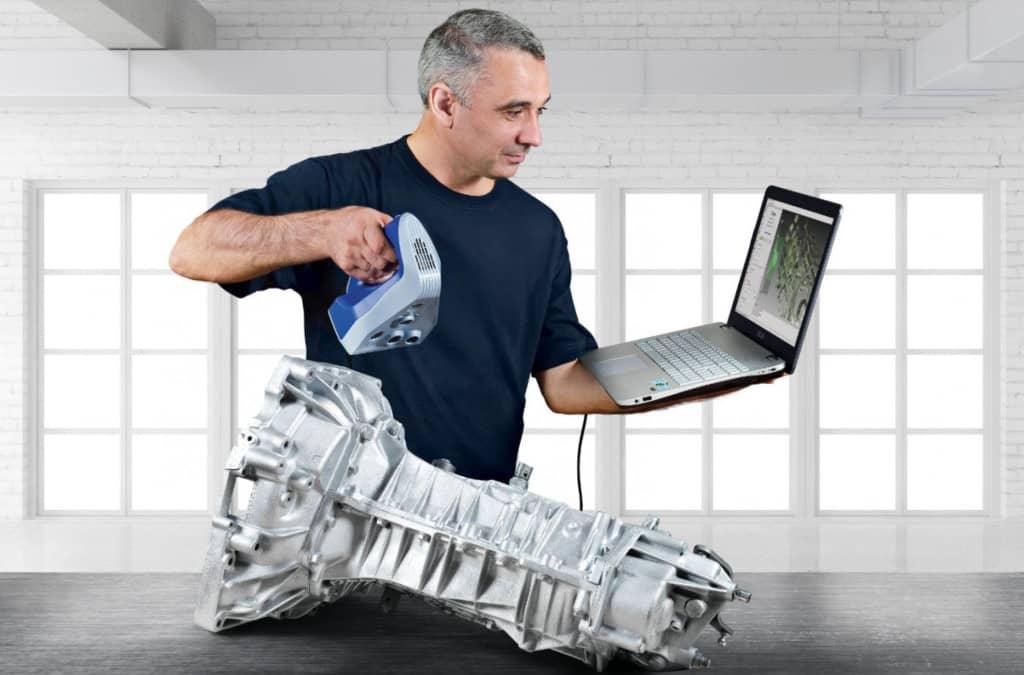 numérisation d'un objet avec un scanner 3D